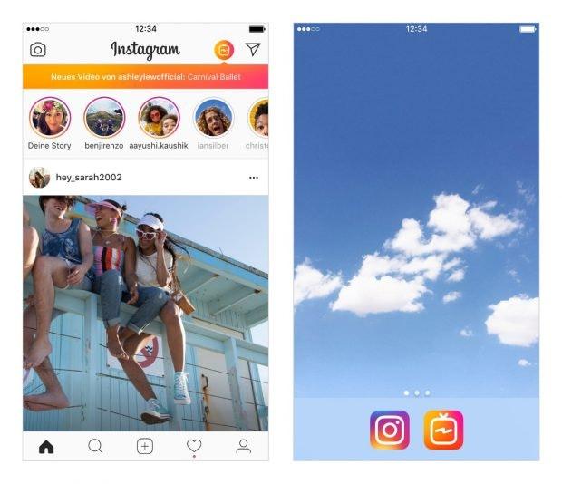 IGTV App und als Instagram-Reiter