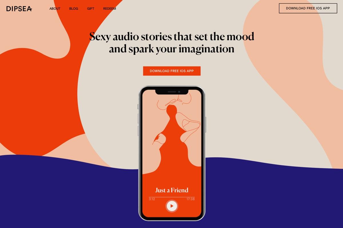 Mit dieser Landingpage wird der Anbieter Dipsea für seine erotischen Hörspiele. (Screenshot: t3n.de)