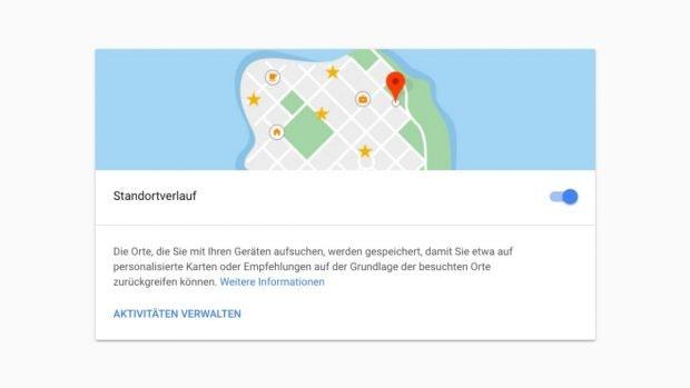 Der Standortverlauf ist nur ein Teil des Google-Trackings. (Screenshot: t3n.de)