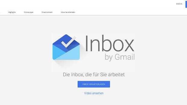 2014 - 2019: Inbox sollte den Posteingang revolutionieren. Doch zwei Mail-Dienste scheinen für Google zu viel zu sein. Deswegen wird Inbox im März 2019 eingestellt. (Screenshot: t3n.de)