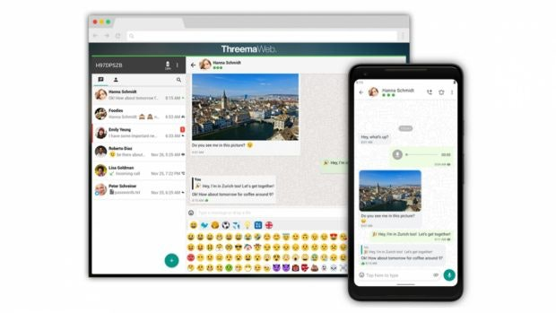 Whatsapp-Alternative Threema auch fürs Web. (Bild: Threema)