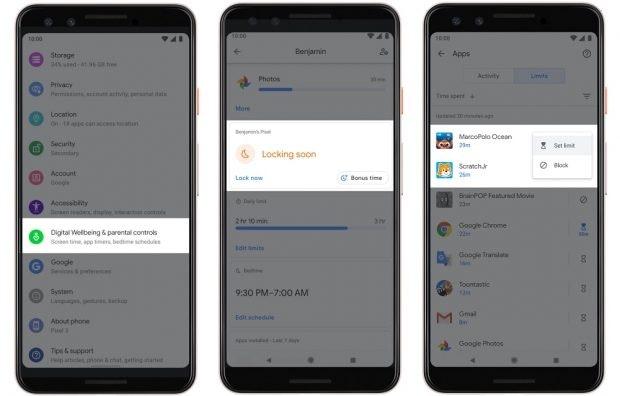 Android 10 Q bringt mehr Kontrolle für Eltern. (Bild: Google)