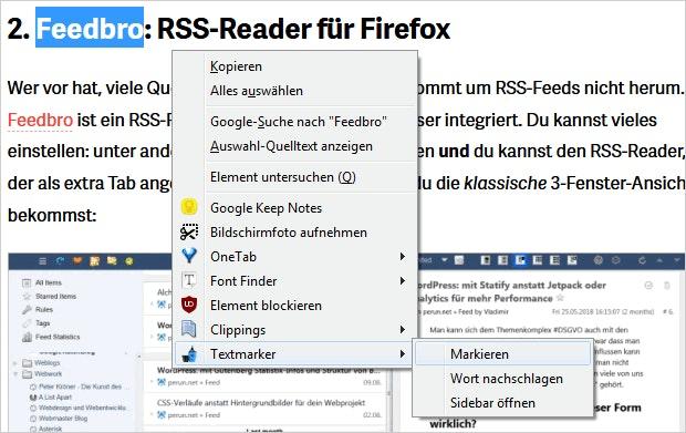 Firefox-Textmarker