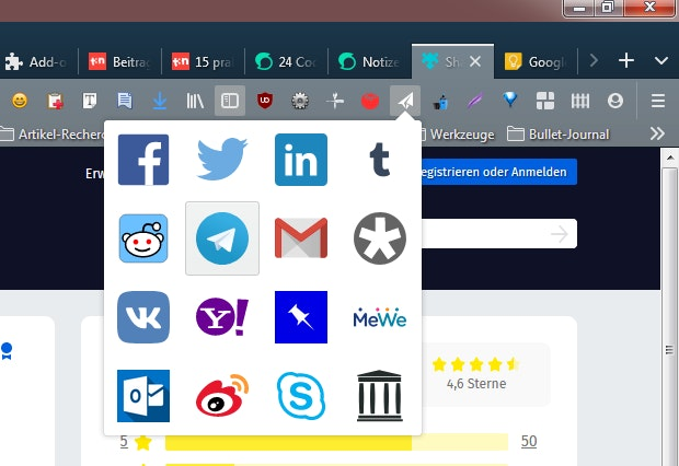 Share Backported in Firefox