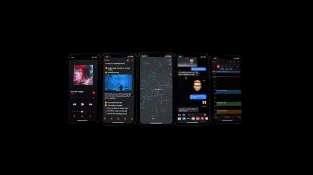 Der Dunkelmodus von iOS 13. (Screenshot: t3n; Apple)