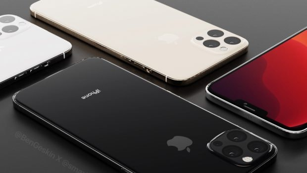 """So könnten die 2020er iPhone-Modelle aussehen. (Renderbild: < href=""""https://twitter.com/BenGeskin/status/1155096918957142016"""">Ben Geskin"""