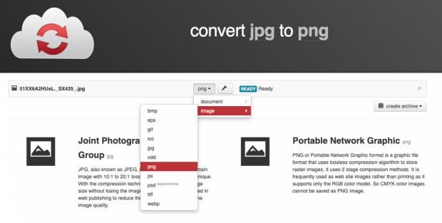 CloudConvert-Erweiterung für Google Drive.