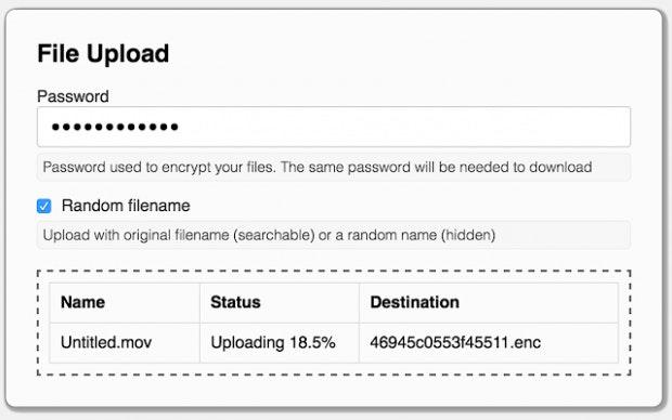 Verschlüsselungsdialog der Google-Drive-Erweiterung Secure File Encryption.