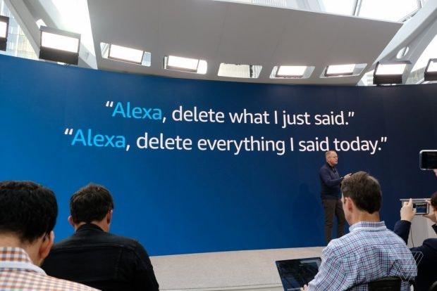 Alexa löscht Nutzerdaten auf Zuruf