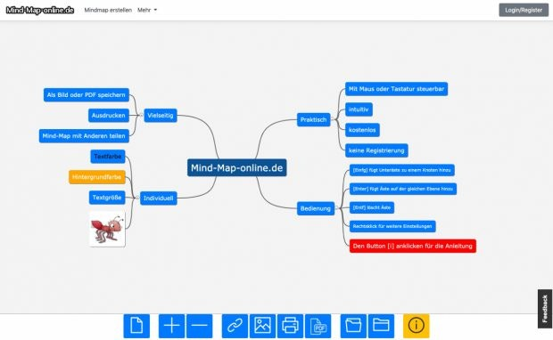 Screenshot von Mind-map-online.de. (Screenshot: Mind-map-online.de)