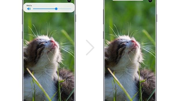 Samsung One UI 2: Popup-Fenster werden kleiner. (Bild: Samsung)