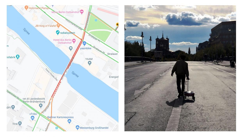 Google Maps: Berliner Künstler sorgt mit 99 Smartphones für virtuellen Stau