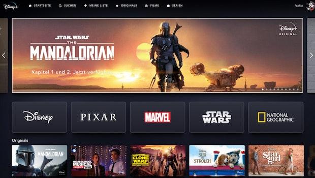 Disney Plus - Startseite. (Screenshot: t3n)