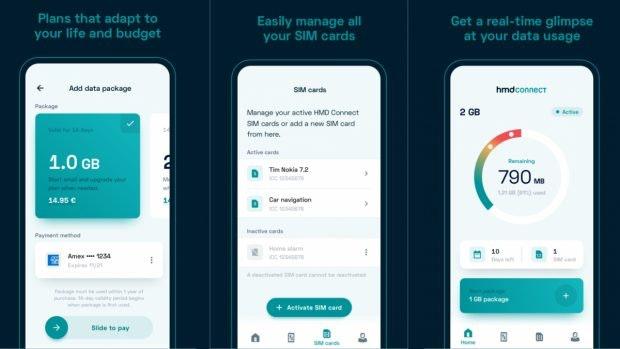 HMD Connect – ein Blick in die App. (Bild: HMD Global)