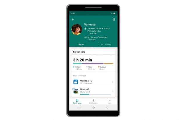 Mit Microsoft 365 Mit neuer App könnt ihr künftig auch die Bildschirmzeit und mehr verwalten. (Bild: Microsoft)