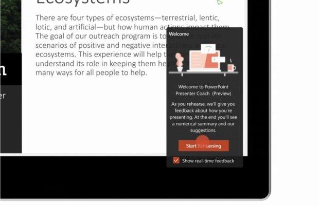 Microsoft 365 erhält einen Powerpoint-Trainer. (Bild: Microsoft)