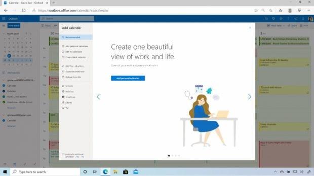 Mit dem neuen Microsoft 365 könnt ihr bei Bedarf eure privaten und Arbeits-Terminkalender miteinander verknüpfen. (Bild: Microsoft)