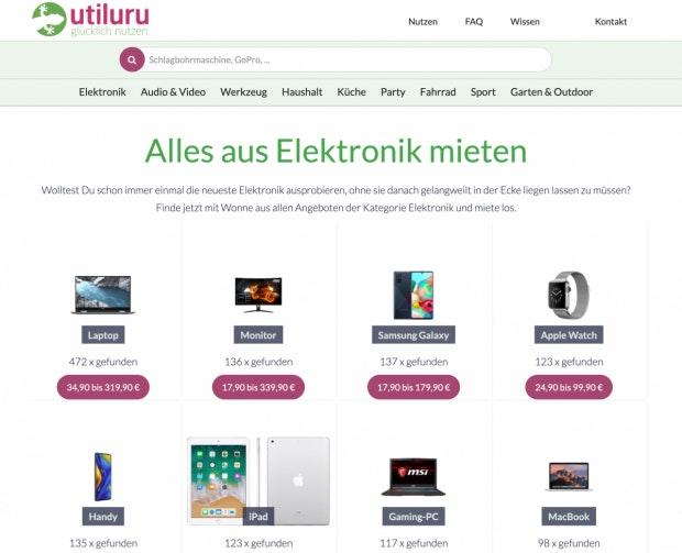 Utiluru Webseite