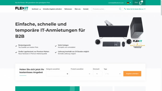 Flex IT Rent Webseite