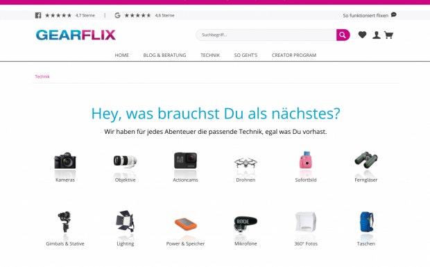 Gearflix Webseite