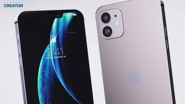 So könnte das iPhone 12 mit 5,4-Zoll-Bildschirm aussehen. (Mockup: Lets go Digital)