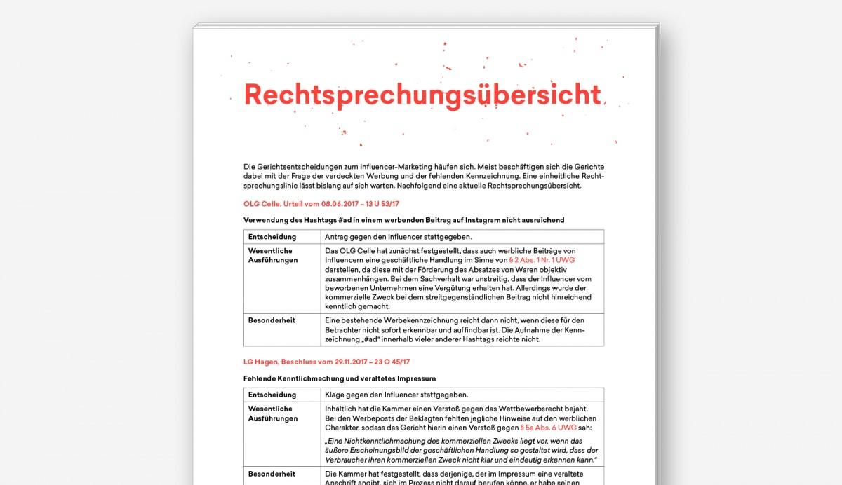 S. 27 des Guides, welche die Rechtsprechungsübersicht einleitet.