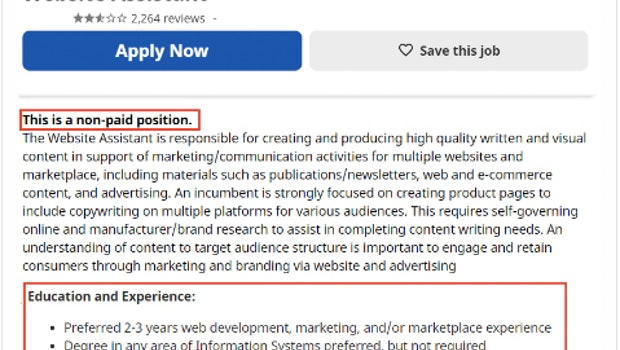 Unverschämte Jobanzeigen: Reddit-Nutzer sammeln Mega-Fails. (Screenshot: Reddit)