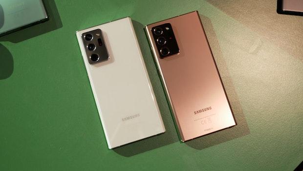 Samsung Galaxy Note 20 Ultra 5G in Weiß und Bronze. (Foto: t3n)