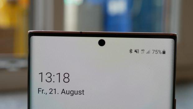 Frontkamera des Samsung Galaxy Note 20 Ultra