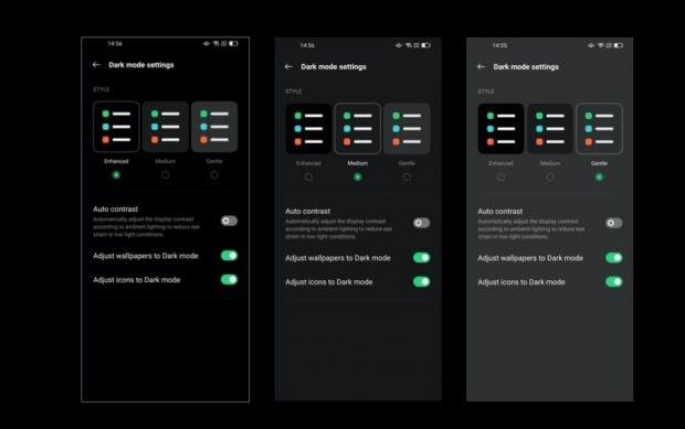 ColorOS 11 mit erweitertem Dark-Mode