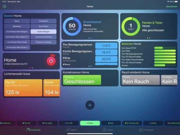 Smarthome-App Homedash für Homekit