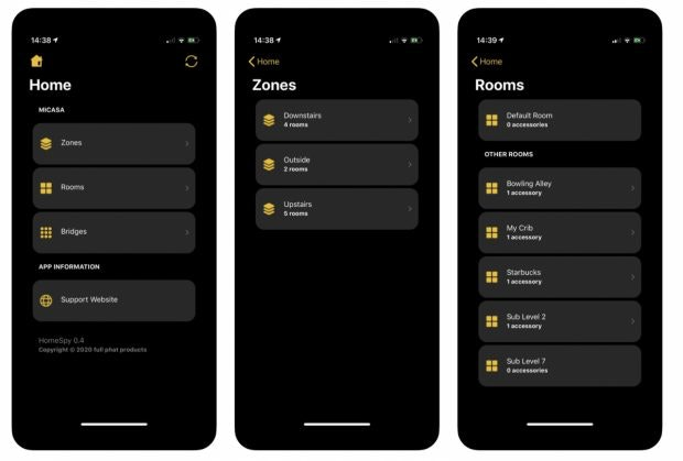 Smarthome-App Homespy für Homekit