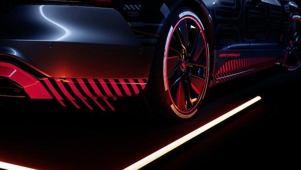 Detailansichten des Audi E-Tron GT.
