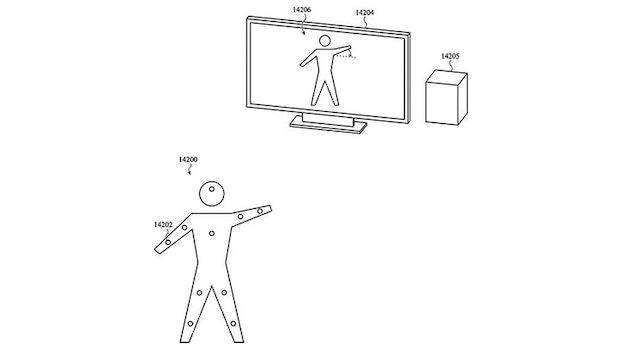 Laut Apples Patentskizze können die Airtags am Körper angebracht werden, um einen Avatar zu steuern. (Skizze: Patently-Apple, USPTO)