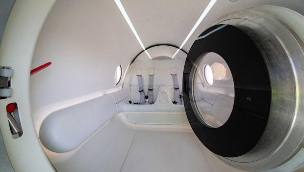 Das Innere der Hyperloop-Testkapsel. (Foto: Virgin Hyperloop)