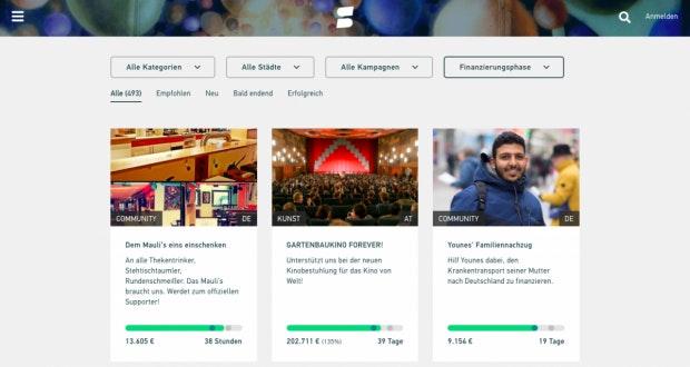 Mit Startnext finden Crowdfunding-Fans die größte Plattform aus Deutschland vor. (Screenshot: t3n)