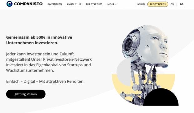 Ab 500 Euro steigt man bei Companisto in vielversprechende Jungfirmen als Investor ein. (Screenshot: t3n)