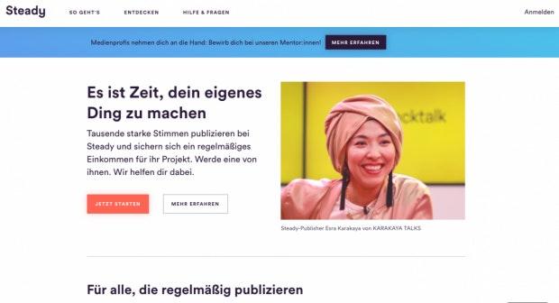 Einnahmen für Medienschaffende: Mit Steady können Publisher Beiträge ihres Publikums generieren (Foto: t3n).