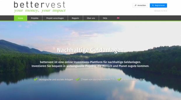 Rentabel und nachhaltig: Bettervest finanziert nur ausgewählte Projekte (Foto: t3n).