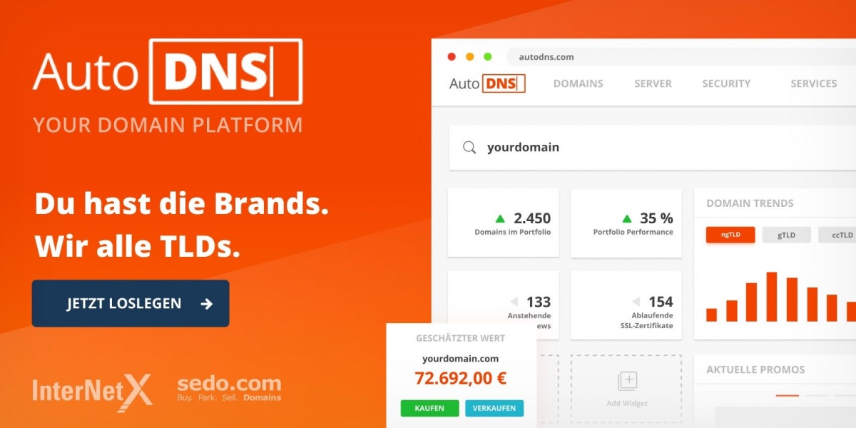 Domains registrieren mit AutoDNS