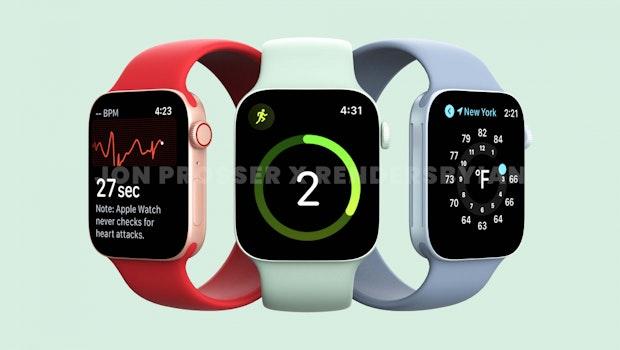 Die Apple Watch Series 7 könnte auch in grün erscheinen. (Renderbild: Jon Prosser; Renders by Ian)