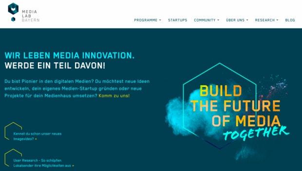 Unterstützung für Medienschaffende mit innovativen Ideen bietet das Media Lab Bayern (Screenshot: t3n).