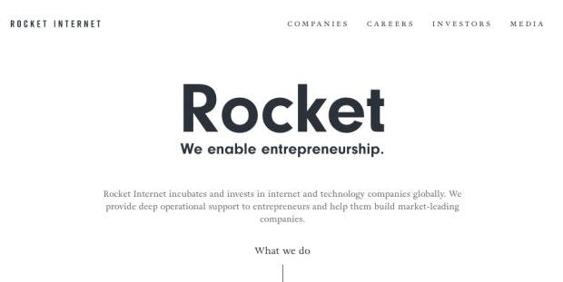 Rocket Internet ist der wohl bekannteste Company-Builder aus Deutschland (Screenshot: t3n).