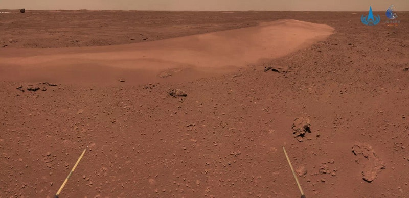 Zhurong hat Mars-Düne im Visier