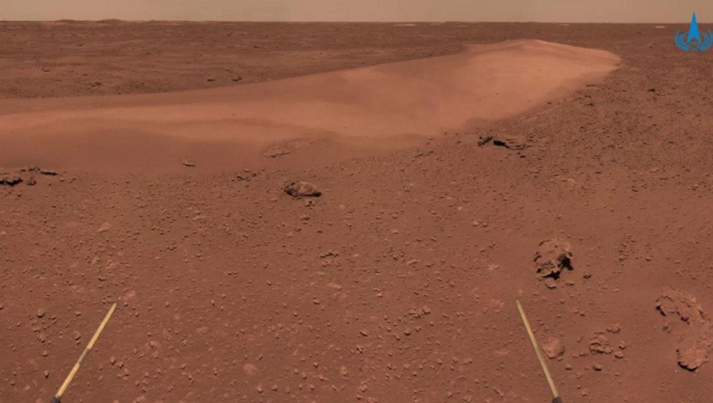 Mars: Rover Zhurong schießt Fotos von Landekomponenten