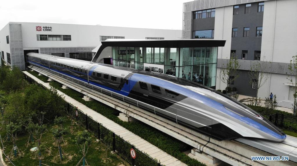 Magnetic levitation train: China introduces a train with a speed of 600 kilometers per hour