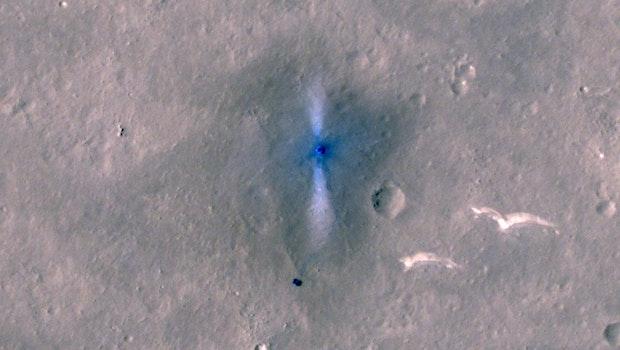 Der Nasa-Oribiter MRO hat die Landestelle der chinesischen Mission aufgenommen. (Foto: NASA/Caltech)
