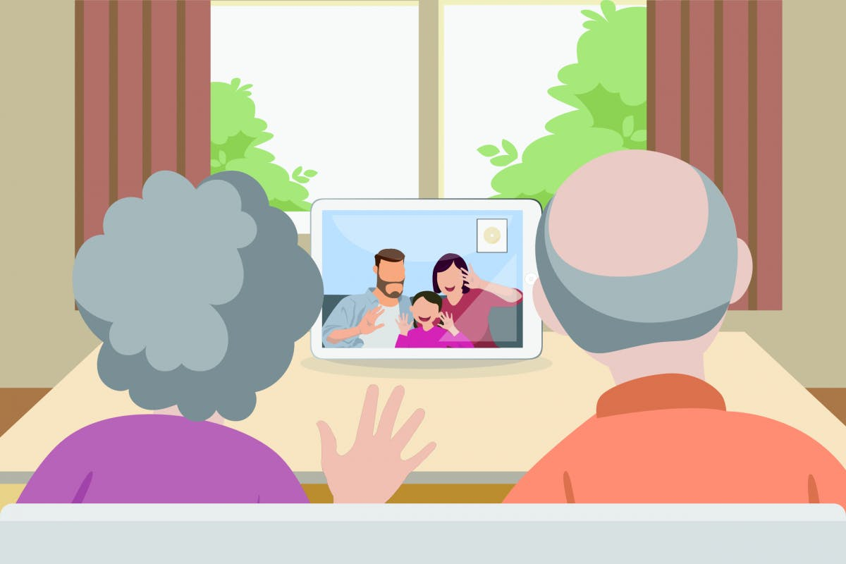 Zoom & Co .: Virtual contact harms seniors more than total isolation