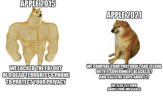 Meme Apple Überwachung Foto-Scans