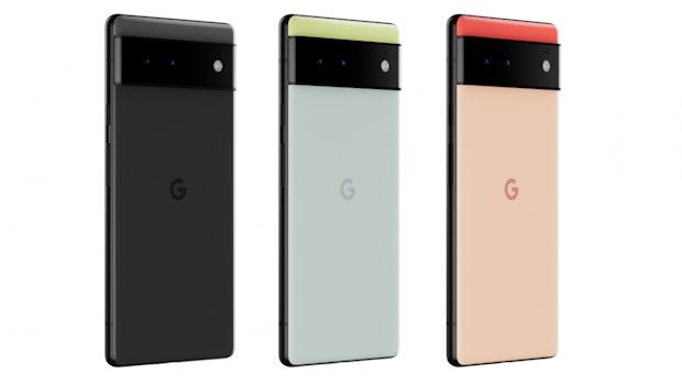 Die Farben des Google Pixel 6. (Bild: Google)